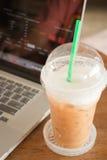 Internet serving at espresso shop Stock Images
