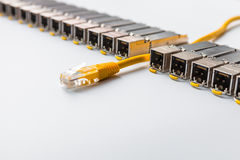 Internet SFP (Small Form-factor Pluggable)  network modules for network switch Stock Images