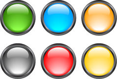 Internet shiny buttons. Many color shiny web buttons vector illustration