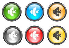 Internet shiny buttons. Many color shiny web buttons Stock Image