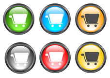 Internet shiny buttons. Many color shiny web buttons Royalty Free Stock Images