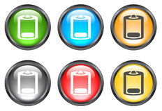 Internet shiny buttons. Many color shiny web buttons Royalty Free Stock Photography