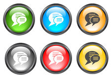 Internet shiny buttons. Many color shiny web buttons Stock Photography