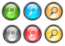Internet shiny buttons. Many color shiny web buttons royalty free illustration