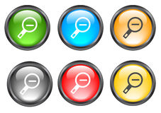 Internet shiny buttons. Many color shiny web buttons Stock Photo