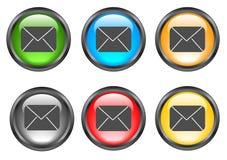 Internet shiny buttons Stock Photos