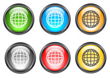 Internet shiny buttons. Many color shiny web buttons Royalty Free Stock Image