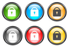 Internet shiny buttons Stock Photography
