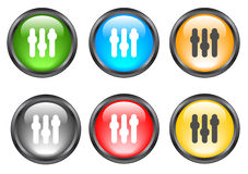Internet shiny buttons. Many color shiny web buttons Stock Images