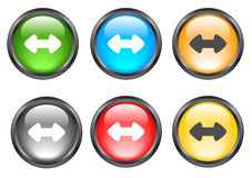 Internet shiny buttons Royalty Free Stock Photography