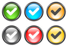 Internet shiny buttons. Many color shiny web buttons stock illustration