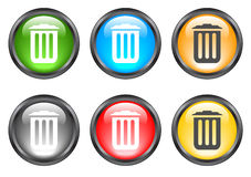 Internet shiny buttons. Many color shiny web buttons Royalty Free Stock Photo