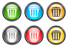 Internet shiny buttons. Many color shiny web buttons Stock Photos