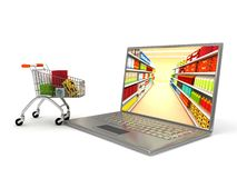 Internet shop. 3d rendered image Royalty Free Stock Photography