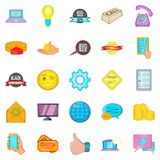 Internet shop icons set, cartoon style Royalty Free Stock Photography