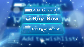 Internet shop illustration with commands Royalty Free Stock Images