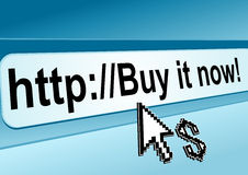 Internet shop webpage Royalty Free Stock Photography