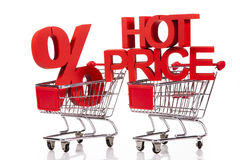 Internet Shoping concept and hot price Royalty Free Stock Photos