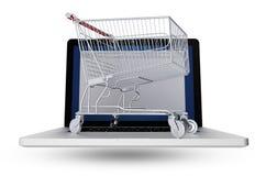 Internet Shopper royalty free illustration