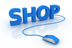 Internet shopping. This is a 3D rendered picture Stock Images