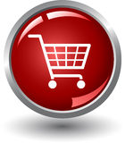 Internet Shopping. Shopping basket button. Internet Shopping Royalty Free Stock Photo
