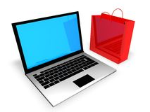 Internet Shopping. Concept  in 3D Royalty Free Stock Image