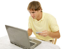 Internet Shopping Addiction Stock Photography