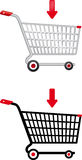 Internet Shopping Cart Stock Photography
