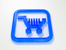 Internet shopping cart. 3D royalty free illustration