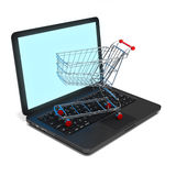 Internet shopping. Computer generated internet shopping conceptual image Stock Photos