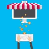 Internet shopping concept. E-commerce. Online store. Stock Photo