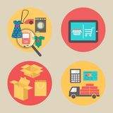 Internet shopping concept, flat design vector Royalty Free Stock Photography