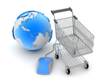 Internet shopping - concept illustration Royalty Free Stock Images