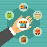 Internet shopping concept illustration Stock Photo