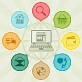 Internet shopping concept illustration Stock Images