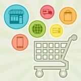 Internet shopping concept illustration Stock Photography