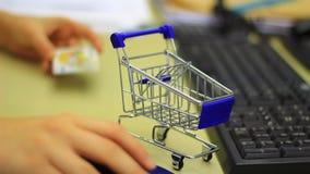 Internet shopping concept stock video