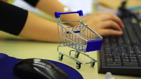 Internet shopping stock video footage