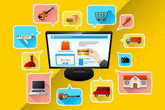 Internet shopping concept Stock Photography