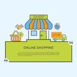 Internet Shopping Concept Royalty Free Stock Image