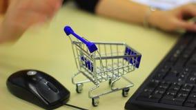 Internet shopping conceptual clip stock video footage