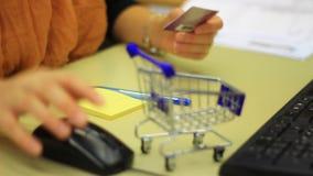 Internet shopping conceptual clip stock footage