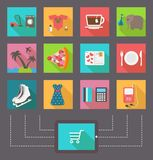 Internet shopping, e-commerce activity. Vector Stock Images