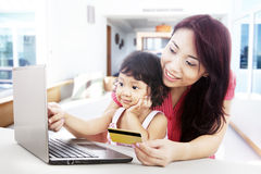 Internet shopping at home Stock Image