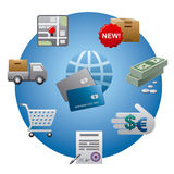 Internet shopping icon set Royalty Free Stock Image