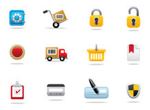 Internet shopping icons Royalty Free Stock Photos