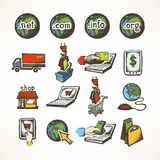Internet shopping icons Royalty Free Stock Images