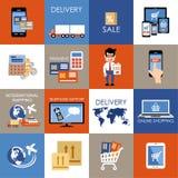 Internet shopping icons. Stock Photo