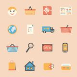 Internet shopping icons set Royalty Free Stock Photos
