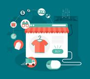 Internet shopping illustration Stock Image